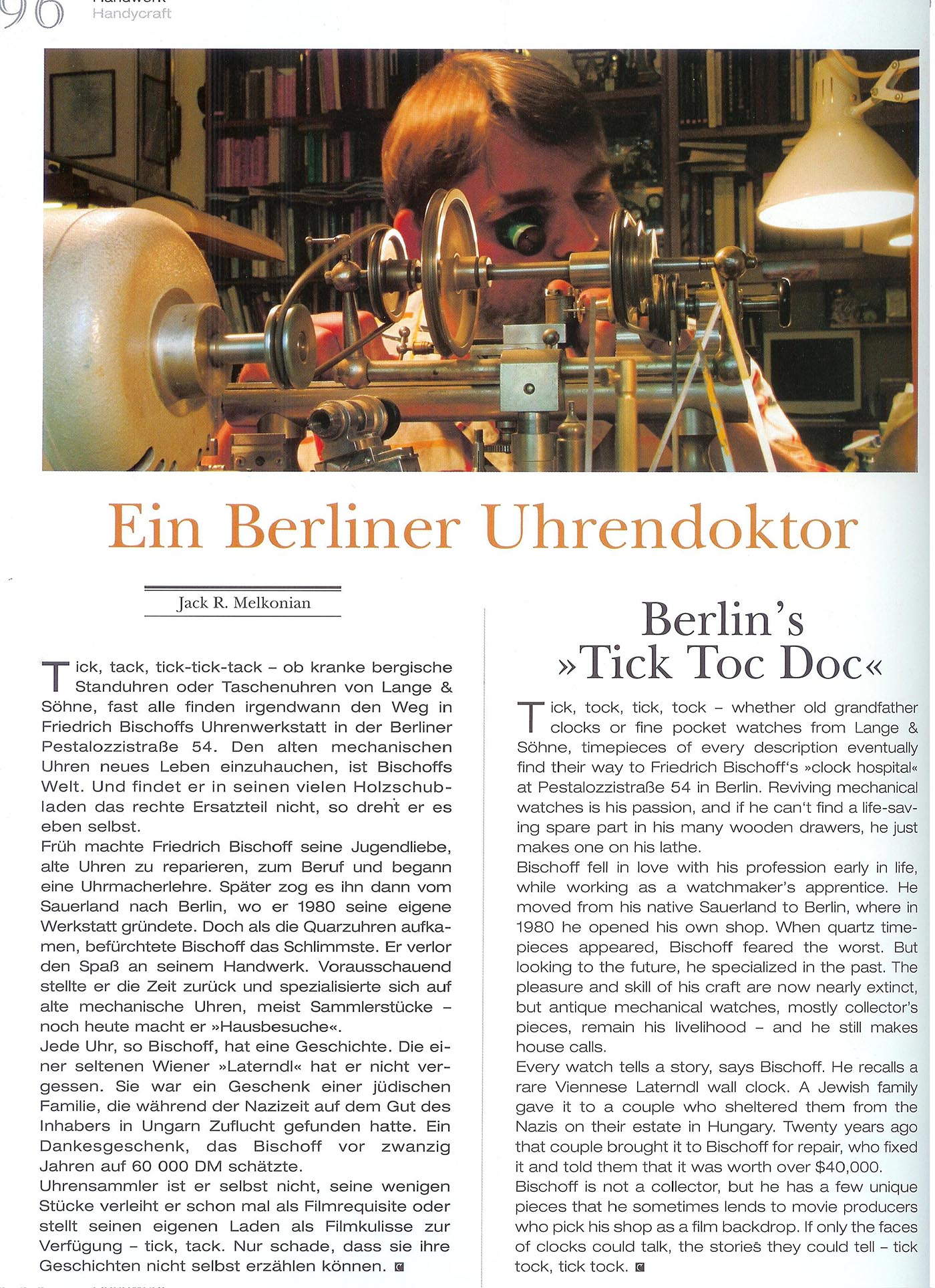 DAS JOURNAL FÜR LEBENSKULTUR | THE LIFESTYLE MAGAZINE | September/Oktober/November 2005